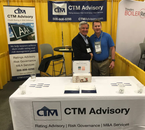 Matt Coyle, CTM's Founder and Bill Lewis of Travelers (NAMIC 2018)